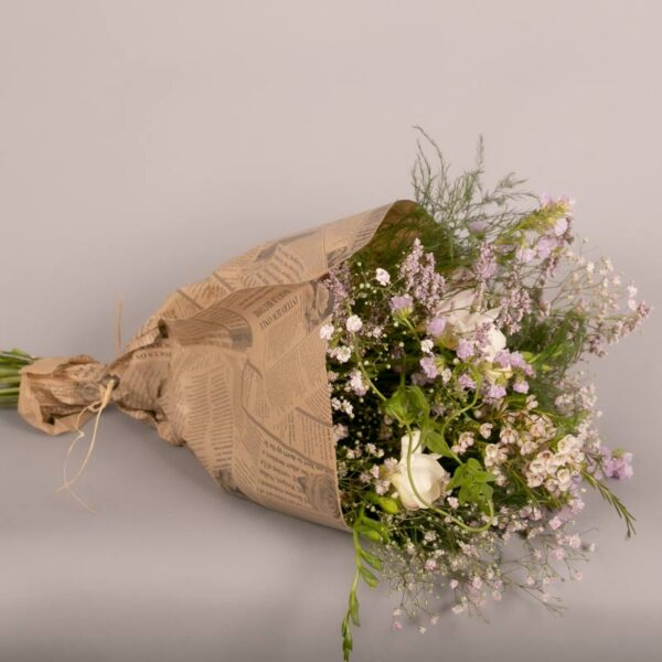 wrapped-wildflower-bouquet